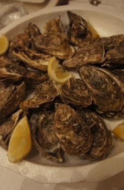 Plateau d'huîtres préparé