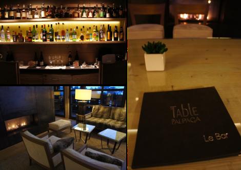 Installez-vous confortablement au bar de l'Alpaga