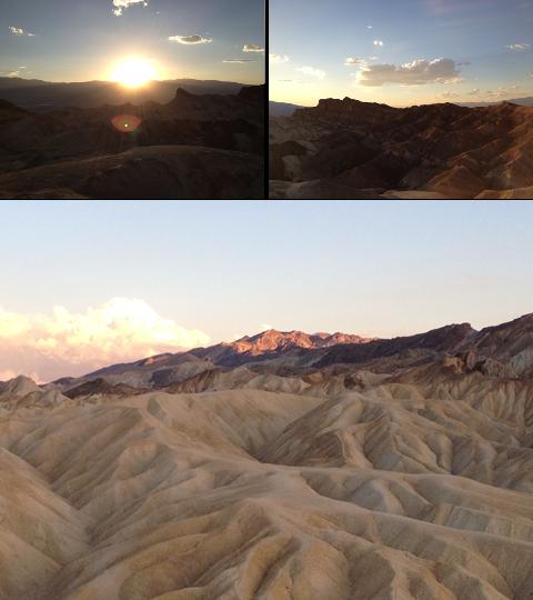 Death Valley - Coucher de soleil