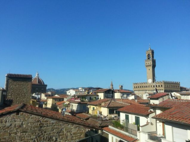 La vue depuis la terrasse du Continentale - Lungarno Collection