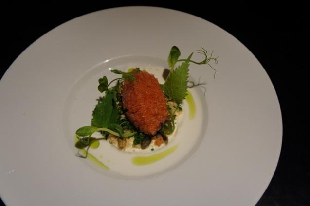 Lumpfish Roe - Smoked Cheese, cucumber and nut milk