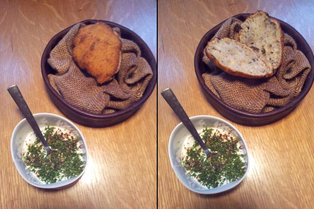 Apéritif : un pain de pomme de terre
