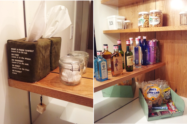Mini Bar & Bathroom