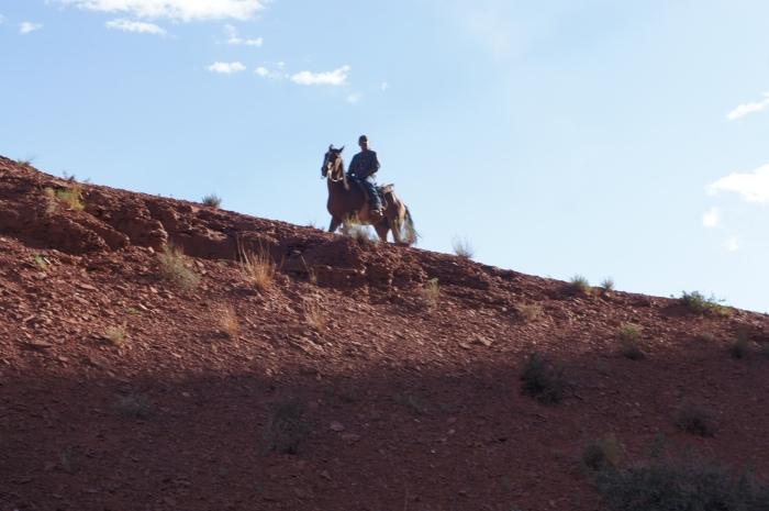 Notre Navajo sur son cheval