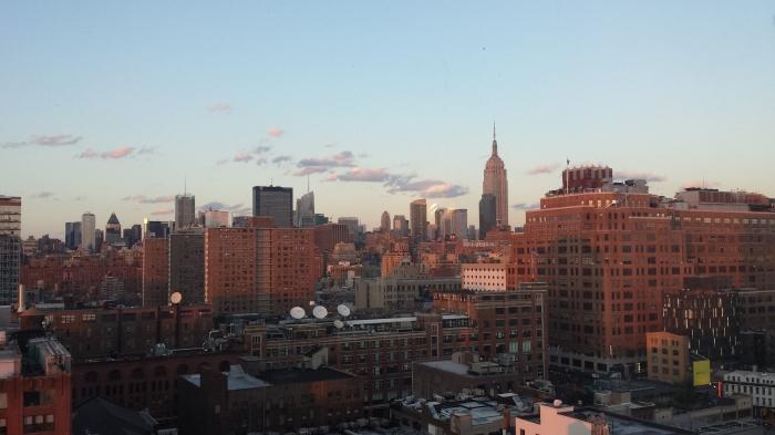 Coucher de soleil sur NY