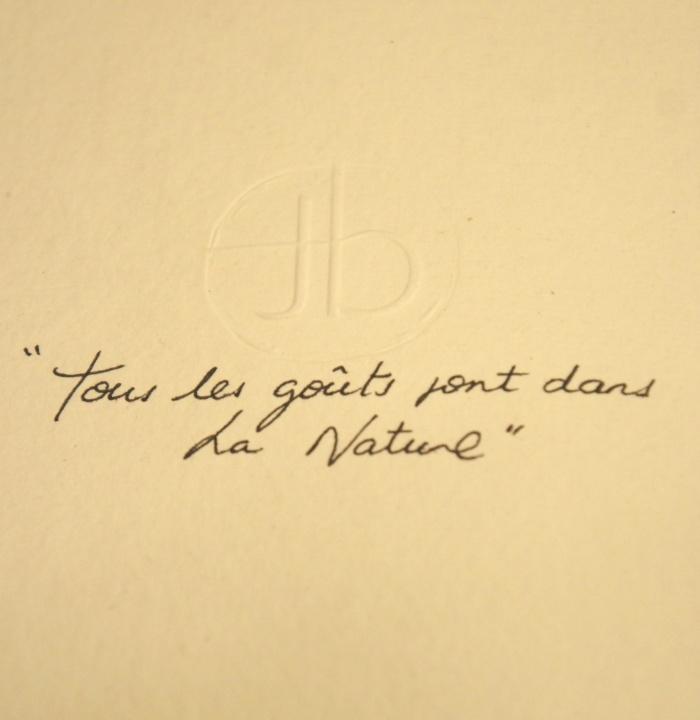 """""""Tous les goûts sont dans la nature"""" David Toutain"""
