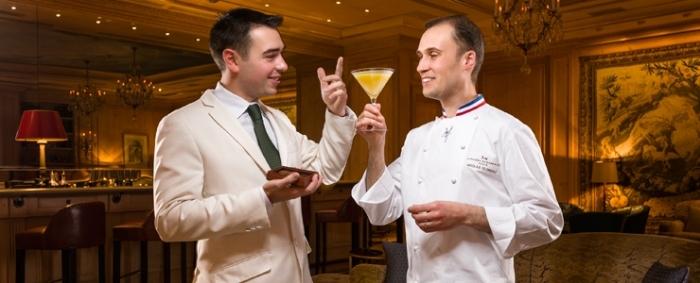 Nicolas Cloiseau, Meilleur Ouvrier de France Chocolatier 2007, Chef de La Maison du Chocolat et Maxime Hoerth, Meilleur Ouvrier de France Barman 2011, Chef Barman du Bar du Bristol