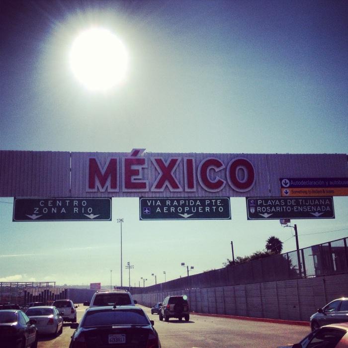 Frontière du Mexique pour une escapade à Tijuana