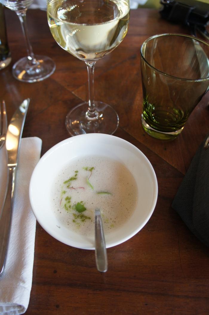 Mise en bouche : bouillon thaï au lait de coco