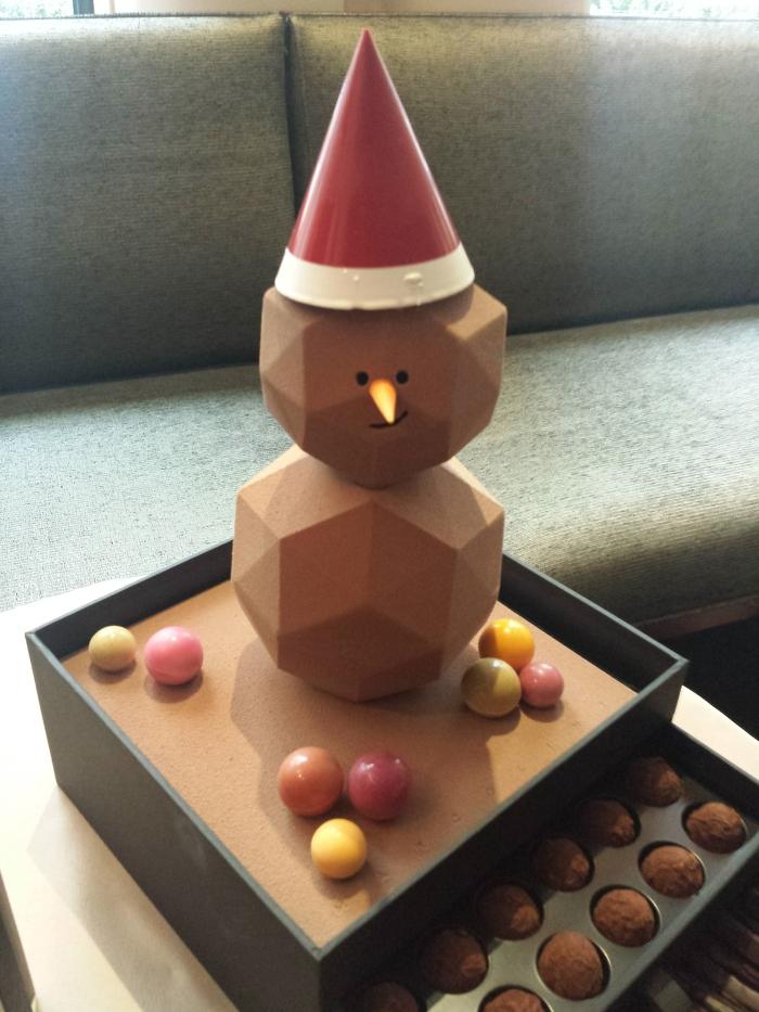 Le bonhomme de neige au chocolat
