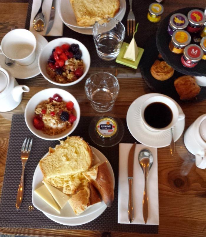 Petit déjeuner du M de Megeve
