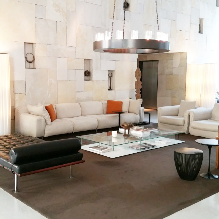 Le magnifique lobby du Mamilla Hotel