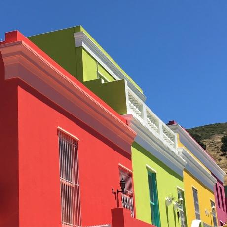Le quartier coloré de Bo Kaap à Cape Town
